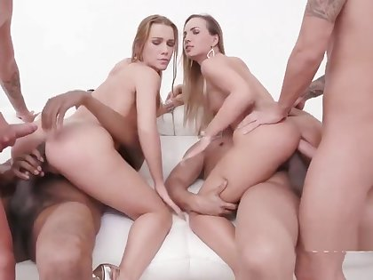 Alexis Crystal & Kristy Black Vs monster cock team