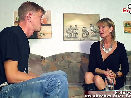 German mature old mom woman seduced younger son guy