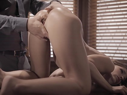 Anal be fitting of the needy office chick in a glorious tryout